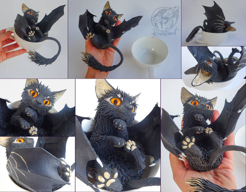 kitty furry eurofurence art sculpture batkitty Sculptures Batkitty #10 - Have a cup of kitty Sculptures
