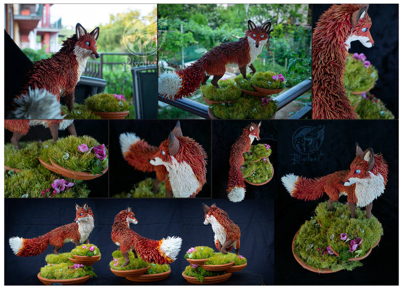 sculpture fox garden nature Sculptures Fox of Nihon Teien Sculptures
