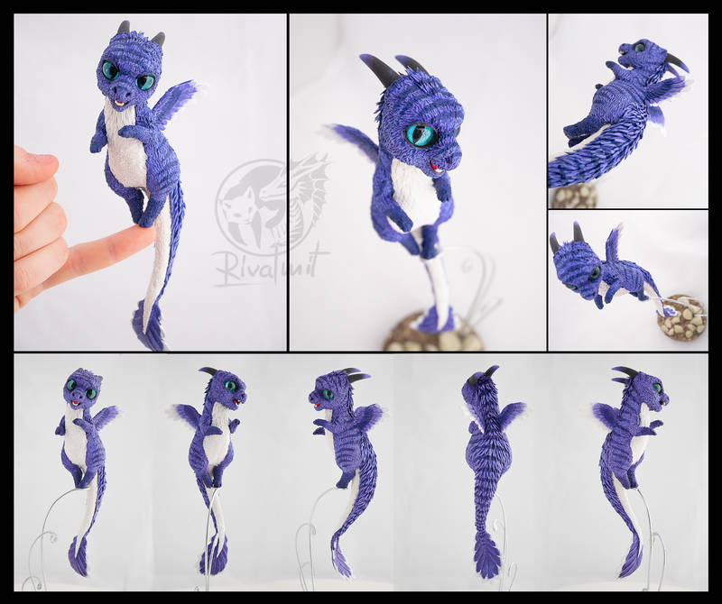 Riley Fluff commission  sculpture companions balance dragon commission