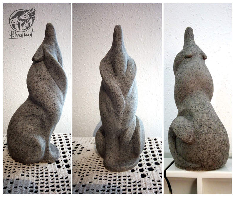 sculpture wolf stone abstract Sculptures Howling stone Sculptures