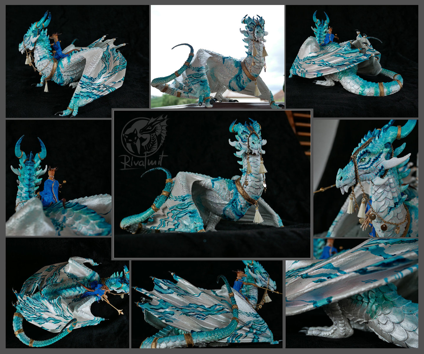 sculpture project dragon queen wyvern traditional Defender of the city-Queens mount