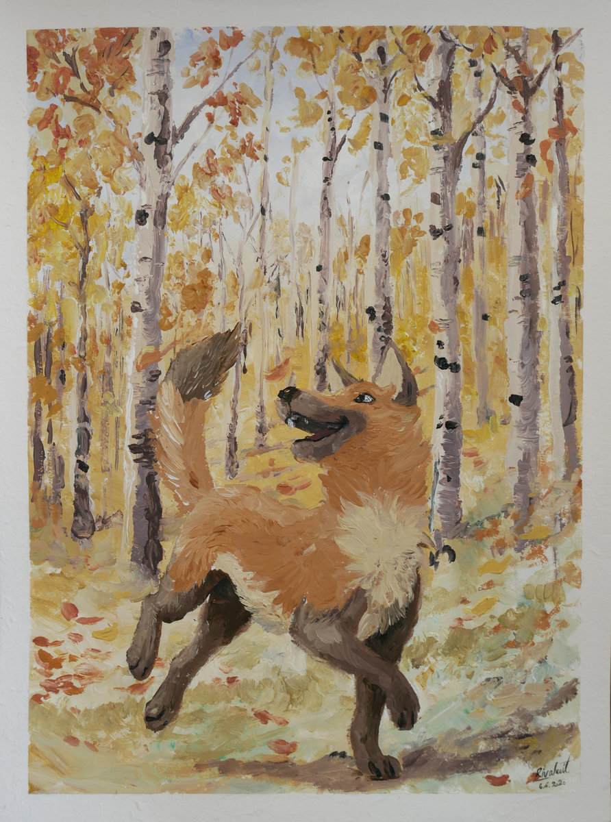 painting speedpainting dog forest RayJ speedpainting