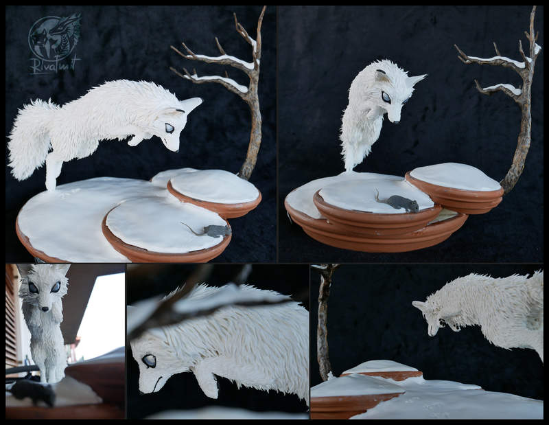 sculpture ef fox snow white Sculptures Silnet hunter Sculptures