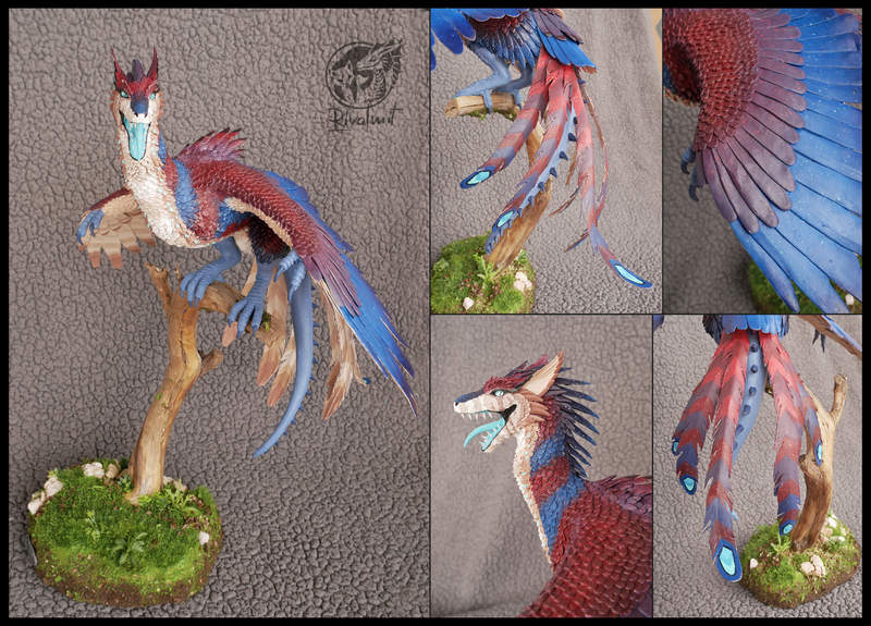 sculpture dragon traditional bird Sculptures Terror of the Night Sculptures