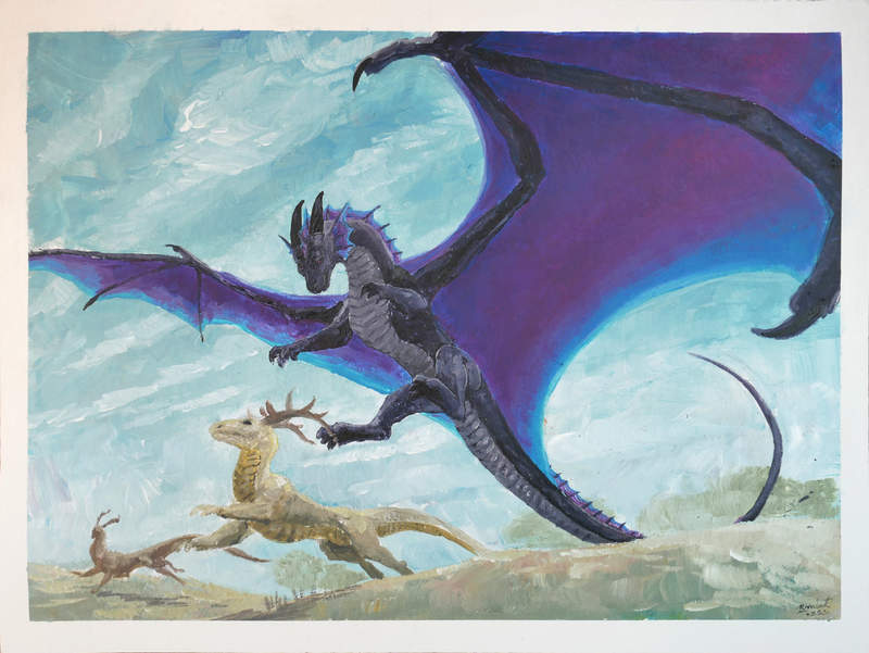 speedpaint dragon acrylic painting Paintings Speedpainting commission Gale Paintings