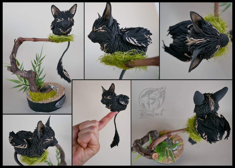 sculpture companion cat batkitty Sculptures Dreaming kitty Sculptures