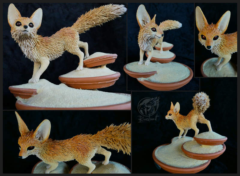 sculpture fennec fox desert Sculptures Scorching Sands I call Home Sculptures