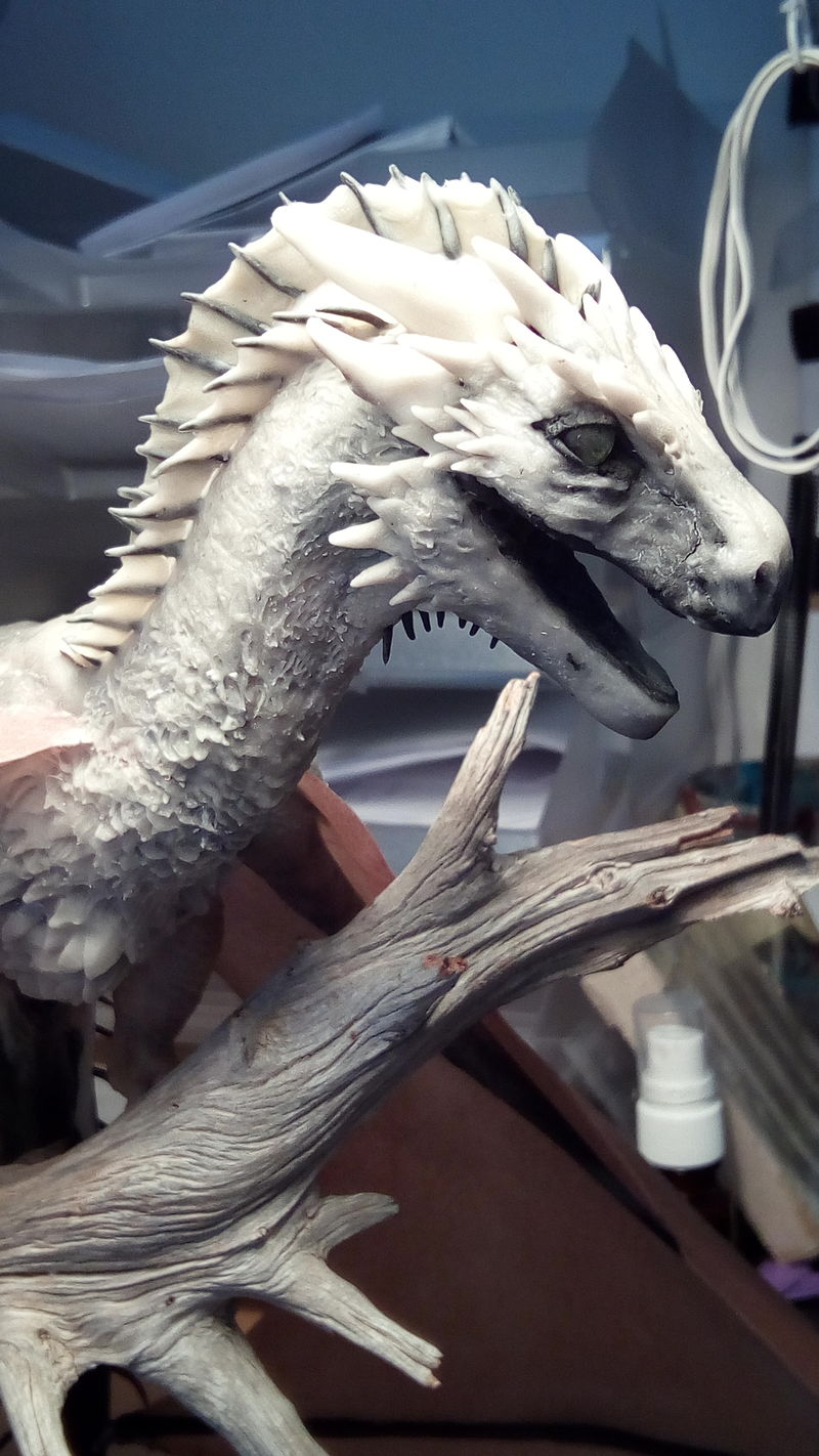 wyvern dragon art sculpture ef24 drogon gameofthrones sexy sexy scales ;D scales are hard to do X_x