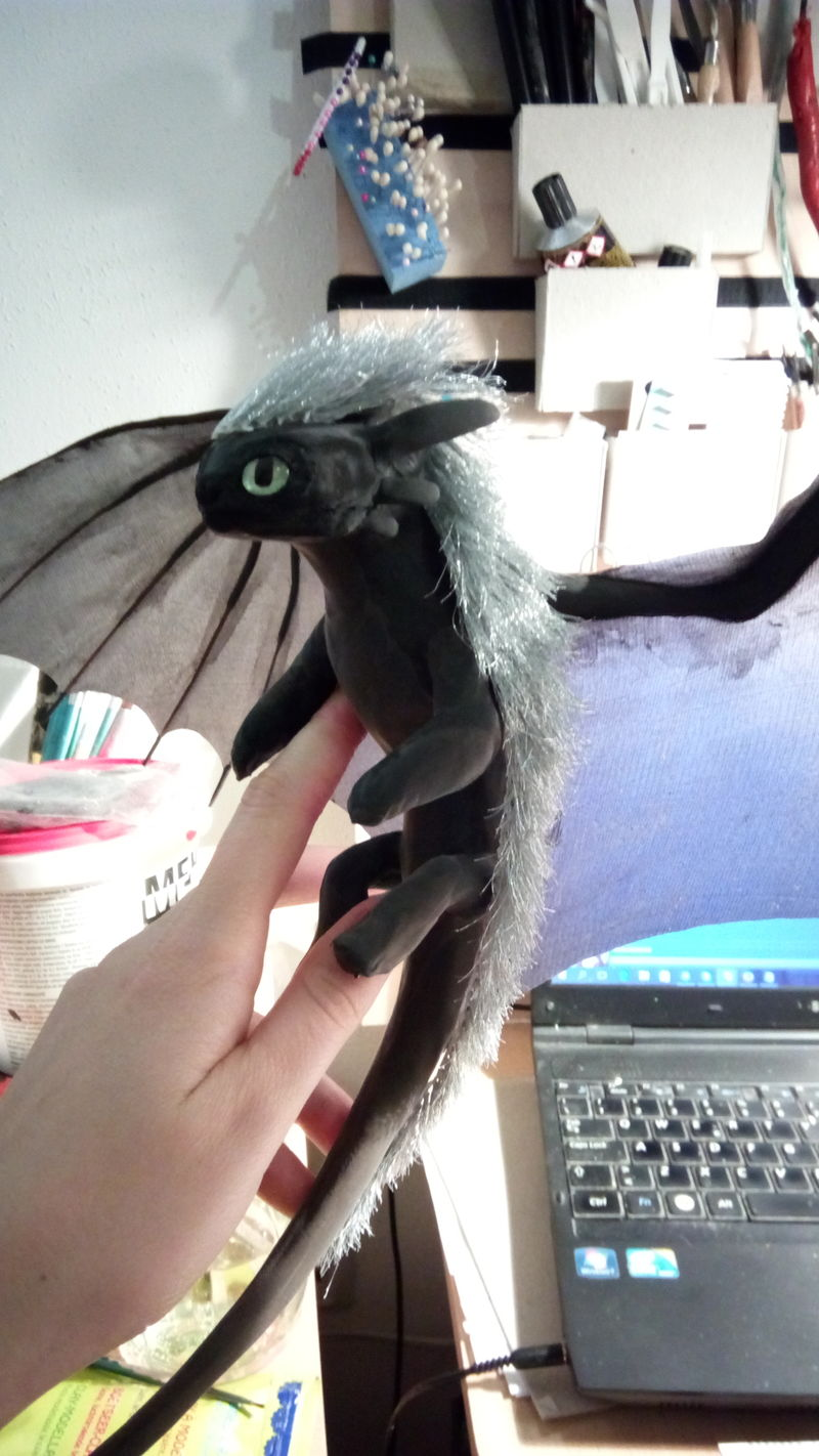 sculpture artwork toothless nightfury dreamworks companion balanced eurofurence ef23 httyd He's a 60s punk