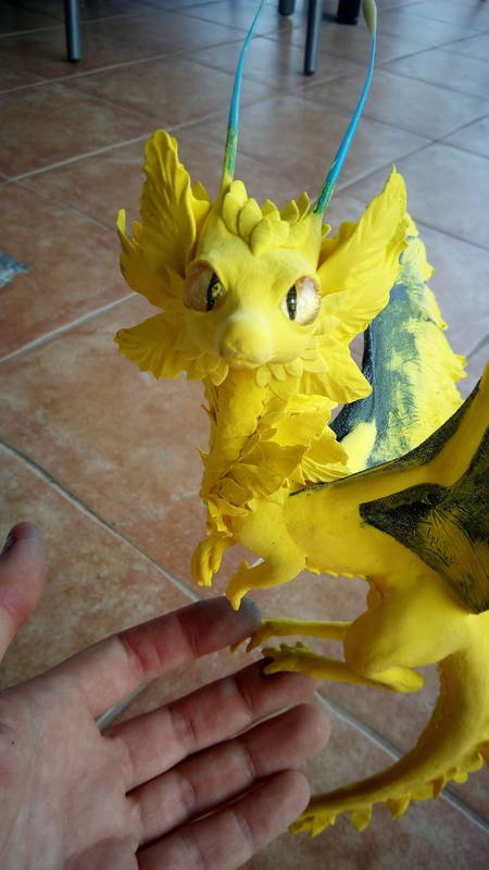 dragon companion sculpture balance ef25 eurofurence furry art flower ... why didn't I take more progress pics? .... Fuuu XD