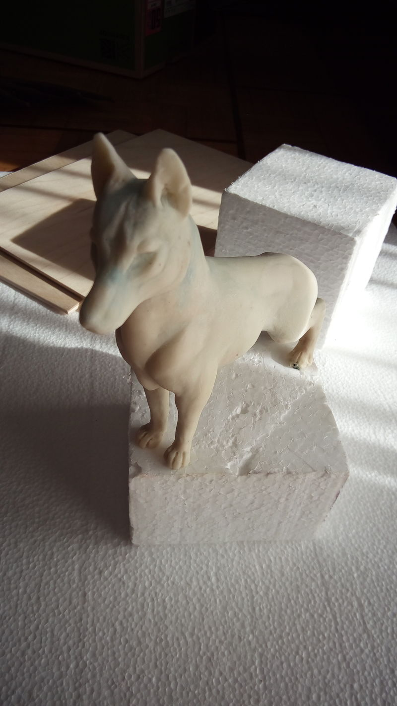sculpture commission artwork shepherd trophy furry silver eurofurence 23 The base