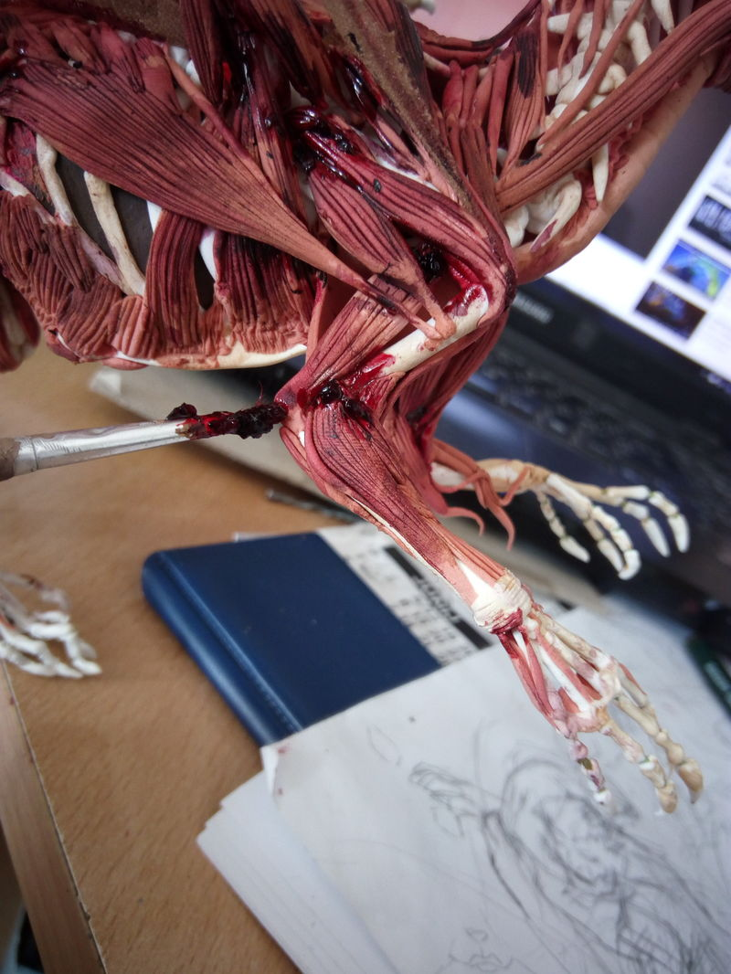 sculpture skeleton dragon undead zombie dead corpse companion balanced eurofurence 23 It is done! He is back to live!