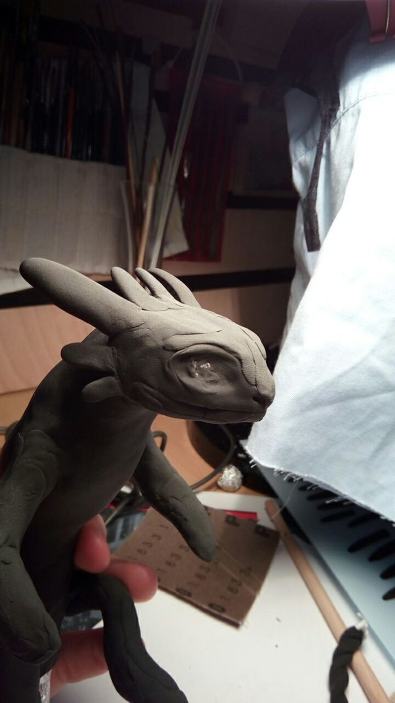 sculpture artwork toothless nightfury dreamworks companion balanced eurofurence ef23 httyd Building the base