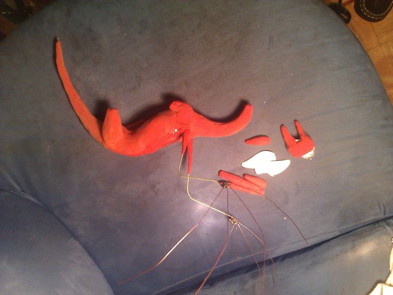 sculpture commission artwork dragon furry companion balanced  This looks terrible!
