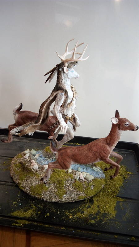 deer sculpture art anthropomorphic feral eurofurence ef25  the whole thing :) jumping over a crek