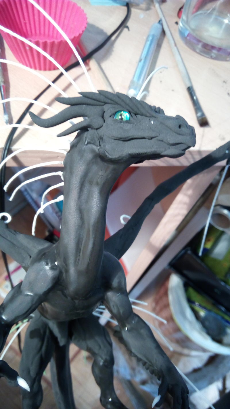 art sculpture dragon clay process mythology ef24 eurofurence blue he got one mean eye there. He hungry!