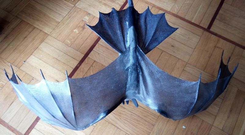 sculpture artwork toothless nightfury dreamworks companion balanced eurofurence ef23 httyd Butt wings!