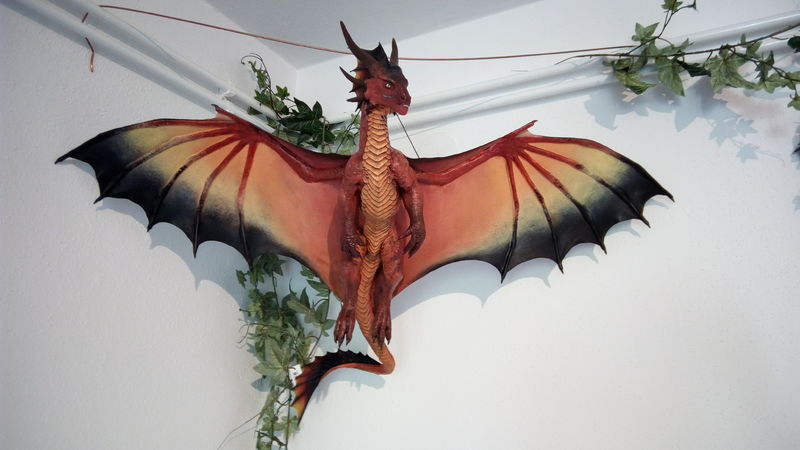 sculpture commission artwork dragon hanging huge eurofurence 23 Crossing the finishing line