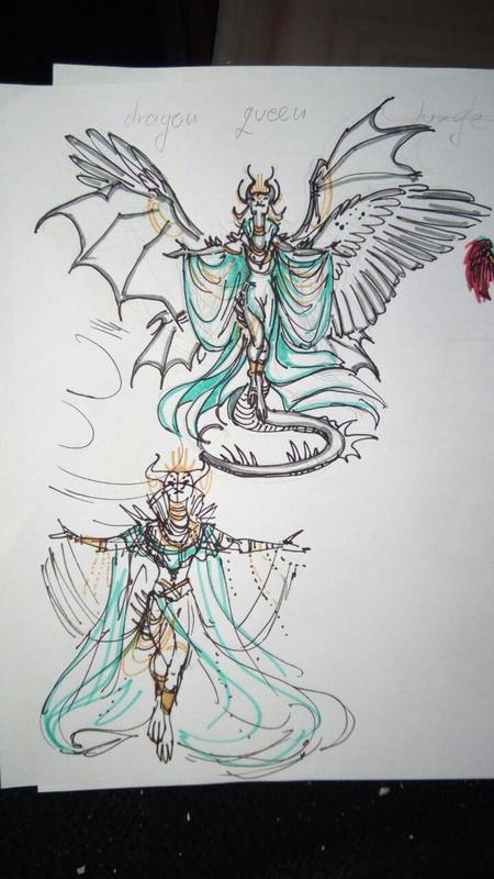 dragon female magical mythical ef25 eurofurence Idea concept for the queen