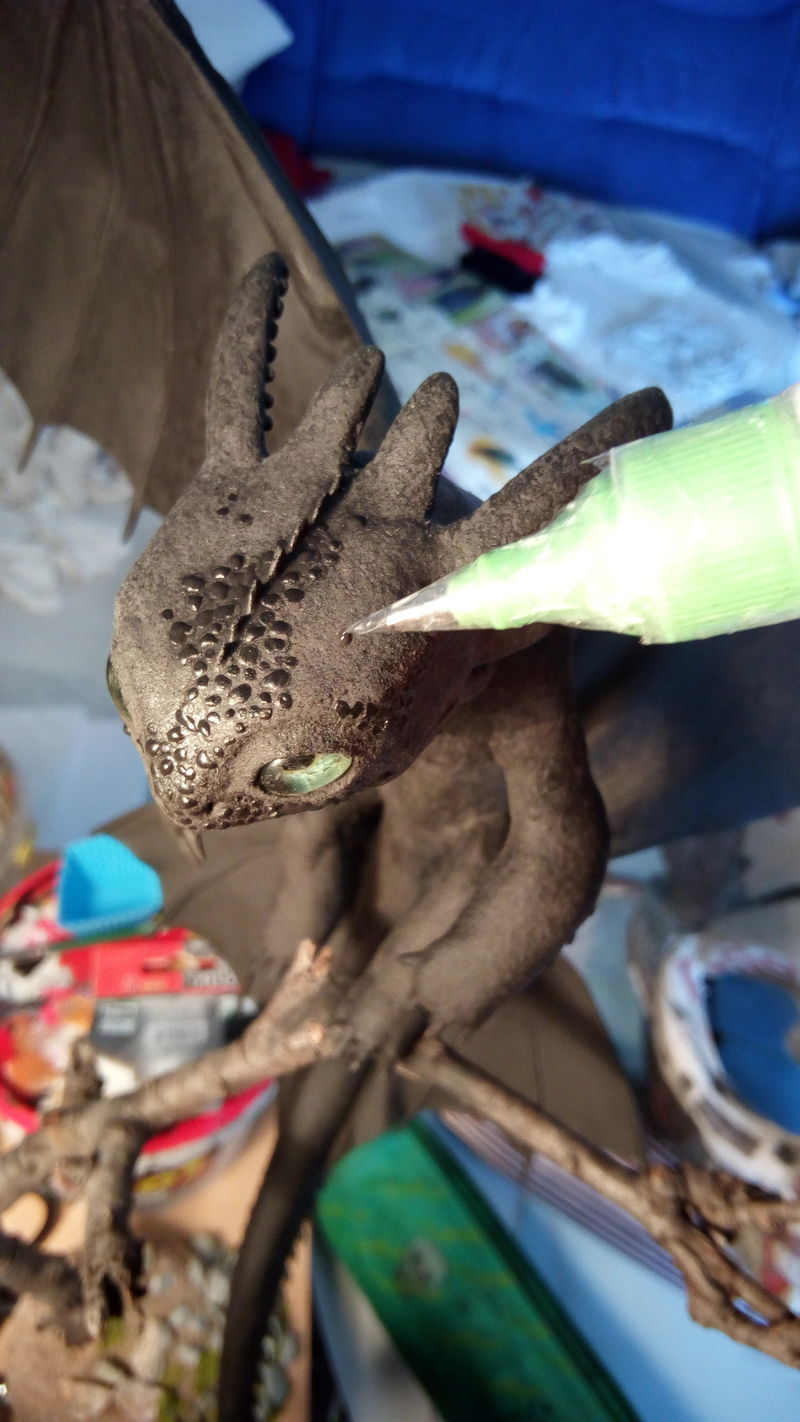 sculpture artwork toothless nightfury dreamworks companion balanced eurofurence ef23 httyd Skin Scales-more dynamic