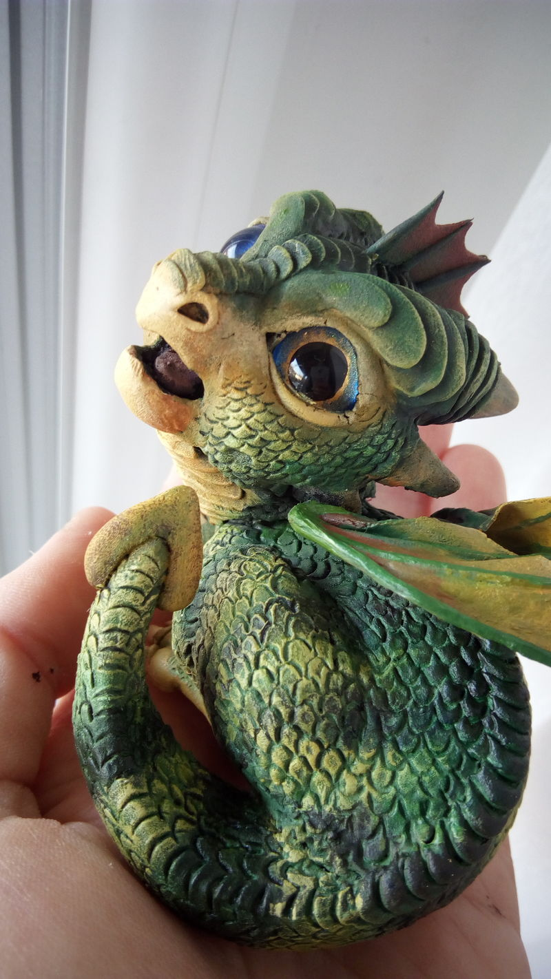 sculpture artwork baby hatched egg dragon newborn eurofurence 23 tinydragons Way too adorable :D