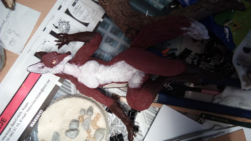 sculpture commission artwork wall fox furry female  anthropomorphic branch eurofurence 23 Back in to her chair she goes