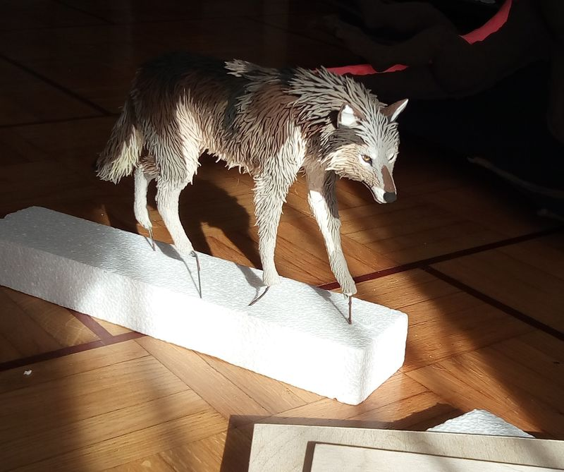 sculpture commission artwork wolf furry eourofurence 23 artshow The Base
