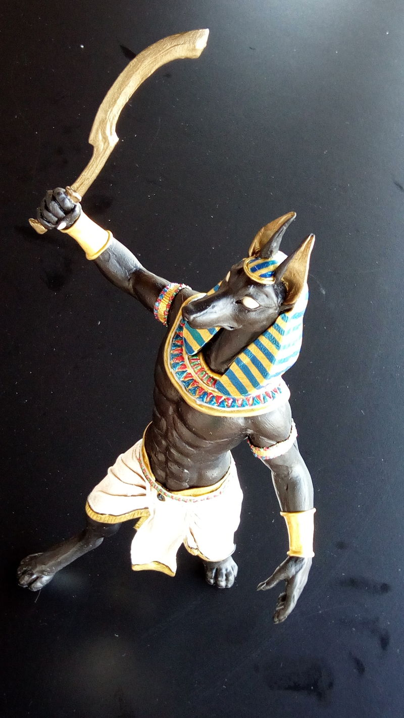 sculpture commission artwork anubis anthropomorphic egypt free standing balanced  eurofurence 23 Full body shot