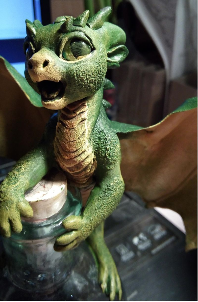 sculpture artwork dragon baby elixir bottle eurofurence 23 tinydragons more color variety