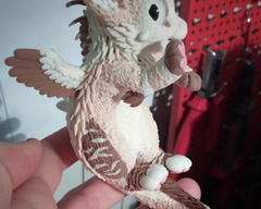 sculpture commission artwork angeldragon dragon balanced companion furry