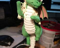 sculpture commission artwork dragon raffle companion mini
