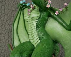 sculpture commission artwork dragon furry flower
