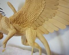 sculpture commission artwork balanced companion dragon