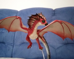 sculpture commission artwork wyvern dragon khyaber balanced companion  furry