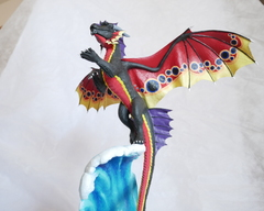 sculpture artwork dragon wedding twin