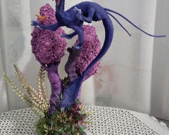 sculpture commission artwork  dragon furry bho alien balanced companion