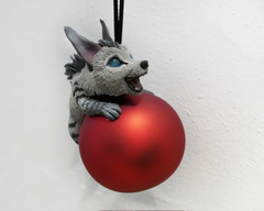 raffle hyena christmas sculpture art