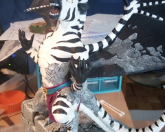 sculpture commission artwork gargoyle zebra traditional