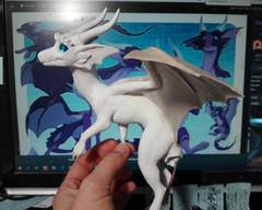 sculpture commission artwork dragon