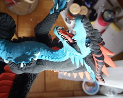 sculpture commission artwork dragon art balance handmade rivalmit