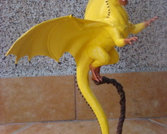 sculpture commission artwork balanced companion yellow dragon male