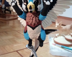 sculpture commission artwork dad angeldragon dragon furry