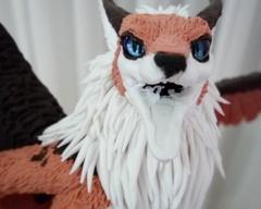 sculpture commission artwork haruki fox balanced companion furry anthropomorphic