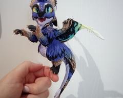 sculpture commission artwork dragon mini
