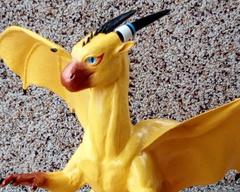 sculpture commission artwork balanced companion yellow dragon male