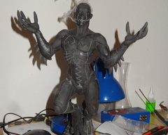 sculpture commission artwork traditional robot alien