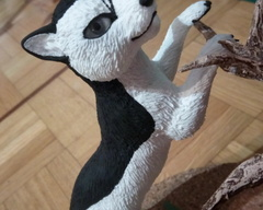 sculpture commission artwork cat traditional