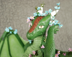sculpture commission artwork dragon furry flower process anthro